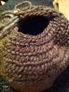 Nålbinding hat #2 in progress (iPhone Photo)