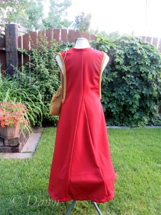 Back view of the red surcote