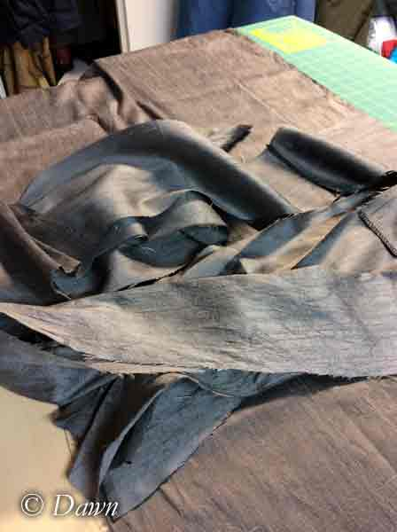 Silver silk underdress- work in progress