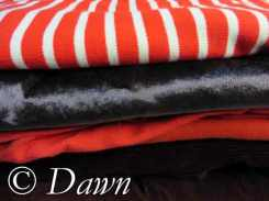 Some of the knit fabrics