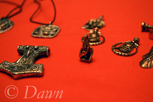 Close up of some of the pendants