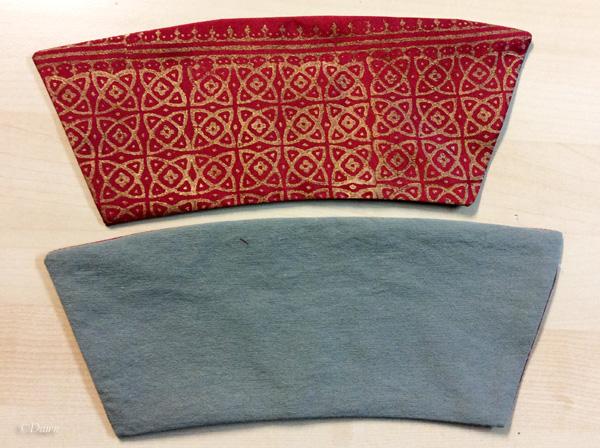 sewn wrist cuffs and lining
