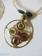 Necklace for my Byzantine costume (pendant close-up)