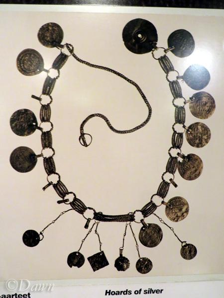 Necklace display from Hämeenlinna