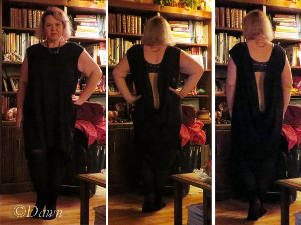 Quick photos of the black backless dress