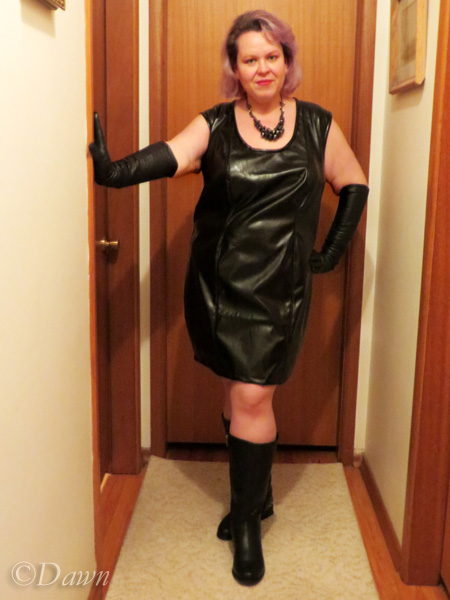 Black pleather dress