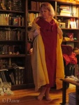 I really need to get a better photo of my red and gold linen Roman garb!