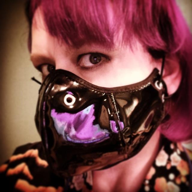 Black PVC mask (iPad photo)