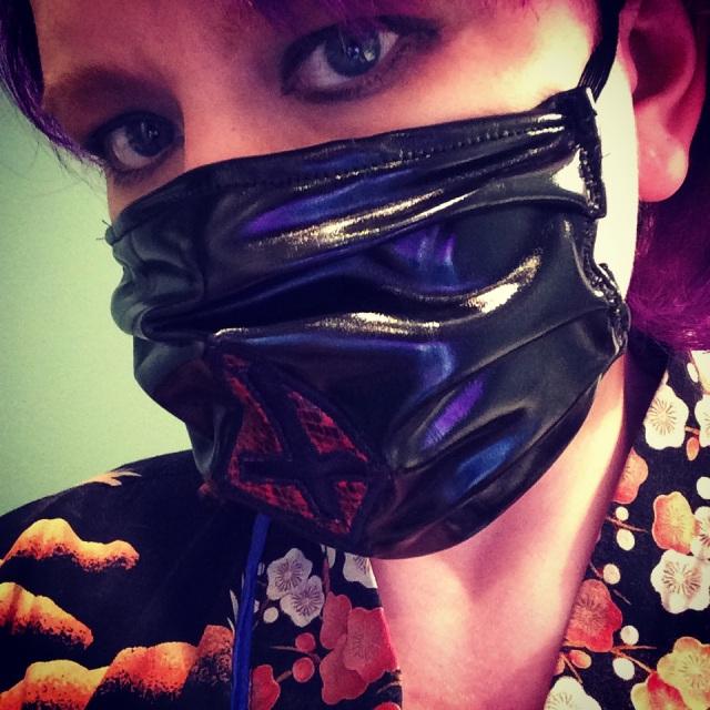 Cross mask (iPad photo)