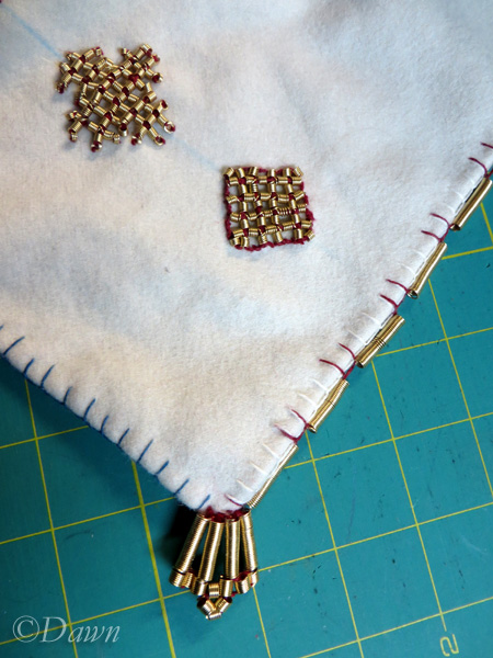 Completed decorated apron