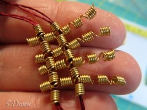 Lining up the stretched-out coils and matching them up