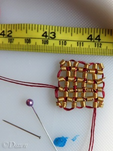 Completed grid ornament (small). It's about 2cm long