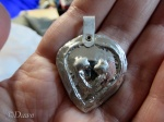 Heart-shaped pendant, with bail