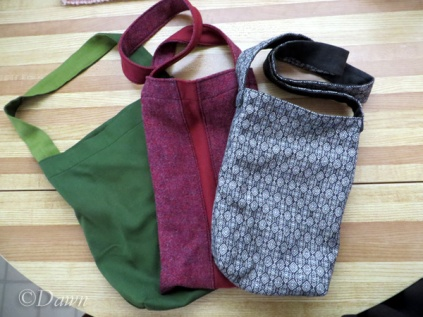 tote bags from leftover and gifted fabric
