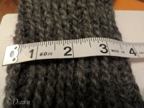 The reversed 'rib' stitch - work in progress at the same stage as the regular Oslo stitch