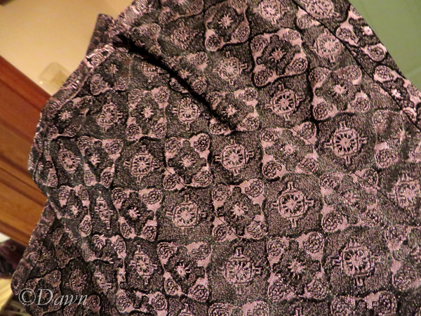 Beautiful pink and black brocade fabric