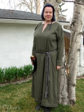 Drab grey - green wool Norse underdress