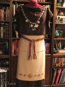 My new Finnish Iron Age outfit, minus the underdress.