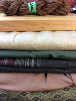 Wools and other fabrics from the 2016 Grandmother's Fabric sale