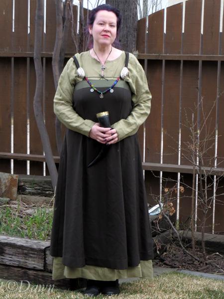 Asatru Dress The Northerner SCA Viking Garb Medium Kelly Green Cotton Undergown Viking Underdress Viking Womens Dress