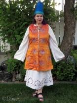 Finished Hirka (orange vest)