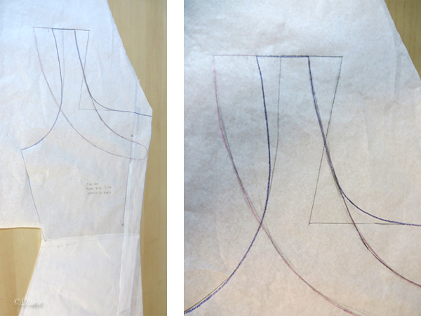 Adjusting the pattern from the Tudor Tailor Kirtle pattern