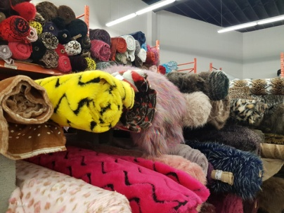 Fun fur from Marshall's. I love the fawn-print fur at the middle-left!