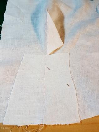 Pressing the very large waist-bust dart to reduce bulk