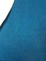 Grey-blue warp, teal weft wool