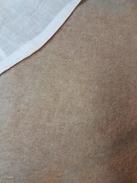 Napped coating fabric