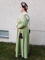 Side view of my new Italian outfit