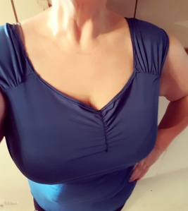 So... the teal test garment doesn't fit quite right, but that's the benefit of making a test garment!