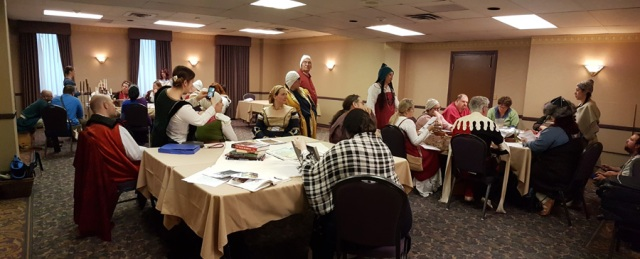 The second session of judging for A&S at Twelfth Night in Montengarde