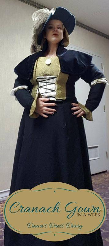 Cranach gown complete costume (so far!)