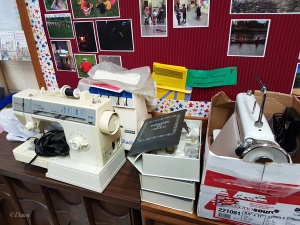 Sewing machines for sale at the 2017 Grandmother's Fabric Sale