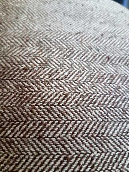 Close up of the 100% silk herringbone fabric from the Grandmother's 2017 fabric sale.