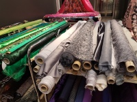 Fabrics on display at the EuroKangas in Turku