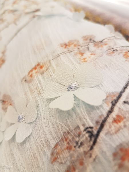 How beautiful is this three-dimensional floral fabric from the EuroKangas in Helsinki?