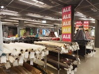 Assorted tables of fabric at the Helsinki EuroKangas