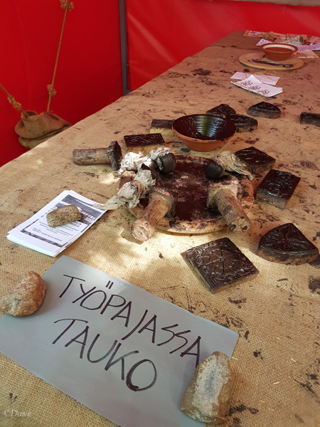 A chance to try your hand at block printing at the Turku Medieval Market