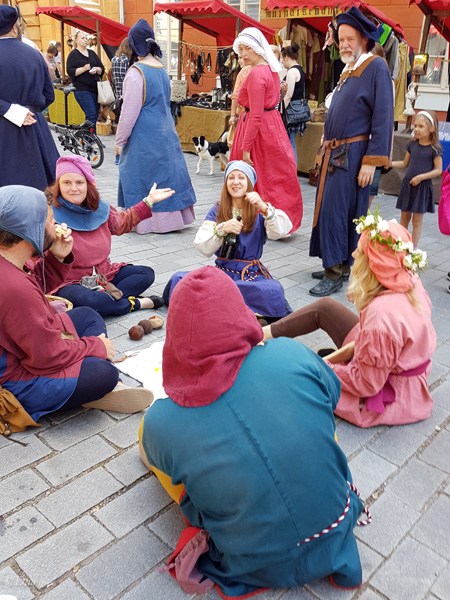 Role-play performers at the Turku Medieval Market