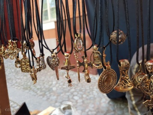 One of my favourite jewellery booths from the Turku Medieval Market