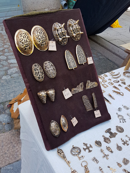 One of my favourite jewellery booths from the Turku Medieval Market - read the blog to find out who they are!