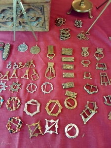 Brooches and belt fittings from another vendor at the Turku Medieval Market.