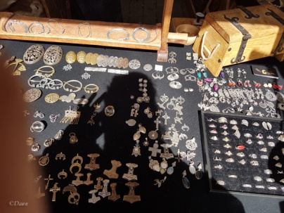 More jewellery for sale at the Turku Medieval Market