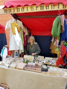 One of the vendors at the Turku Medieval Market - Muinaisemum (?)