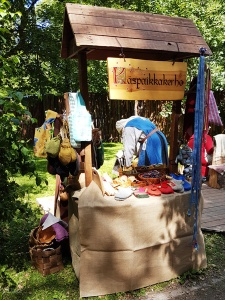 One of the vendors at the Turku Medieval Market - Kaspaikkakerho (?)