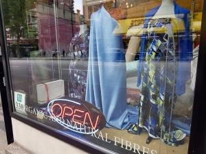 The street window for Atex Designer Fabrics in Vancouver, BC.