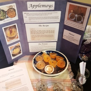 Three different kinds of medieval applesauce - Appelmoys, for the Bitter End A&S defender competition