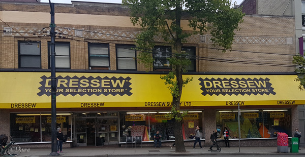 Dressew fabrics in downtown Vancouver, BC - a great source of a wide variety of fabrics, trims, and notions.